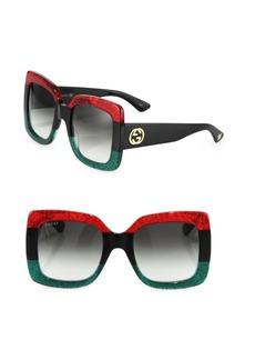 Gucci 55MM Oversized Square Colorblock Sunglasses