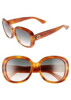 Gucci 55mm Rectangular Sunglasses