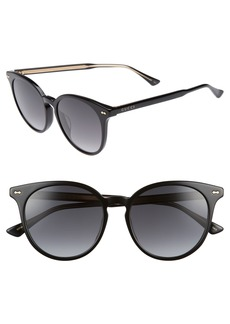 Gucci 55mm Round Cat Eye Sunglasses