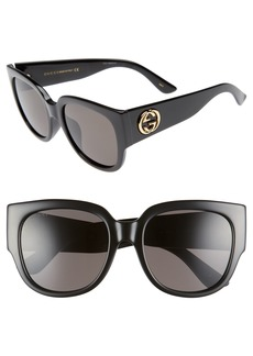 Gucci 55mm Square Cat Eye Sunglasses