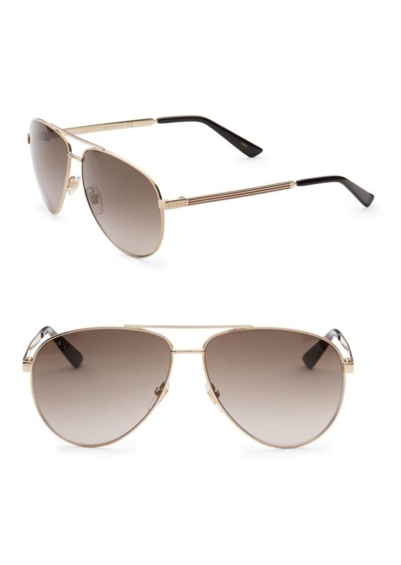66f6d82dc2 Gucci 56MM Aviator Sunglasses