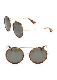 Gucci 56MM Double-Bridge Round Sunglasses