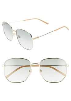 Gucci 56mm Pilot Sunglasses