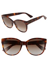 Gucci 56mm Polarized Cat Eye Sunglasses