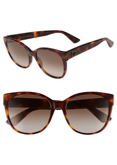 Gucci 56mm Polarized Cat Eye Sunglasses