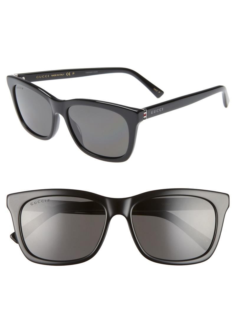 Gucci 56mm Polarized Square Sunglasses