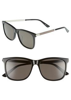 Gucci 56mm Polarized Sunglasses