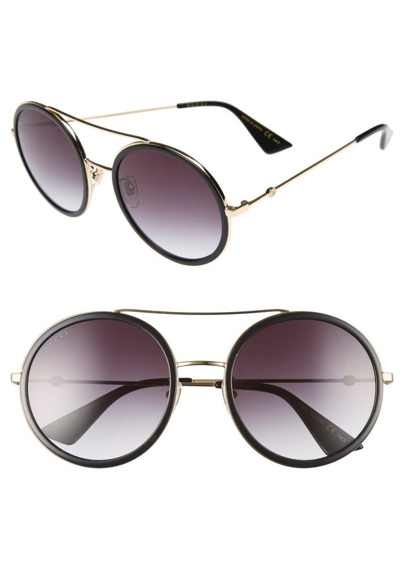 e5154ce145d 56mm Round Sunglasses