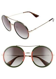 Gucci 56mm Round Sunglasses