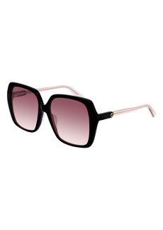 Gucci 56mm Square Sunglasses