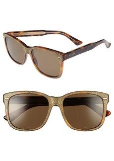 Gucci 56mm Sunglasses