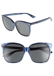 Gucci 57mm Gradient Sunglasses