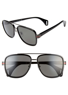 Gucci 58mm Square Aviator Sunglasses