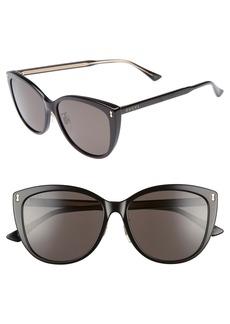 Gucci 58mm Cat Eye Sunglasses