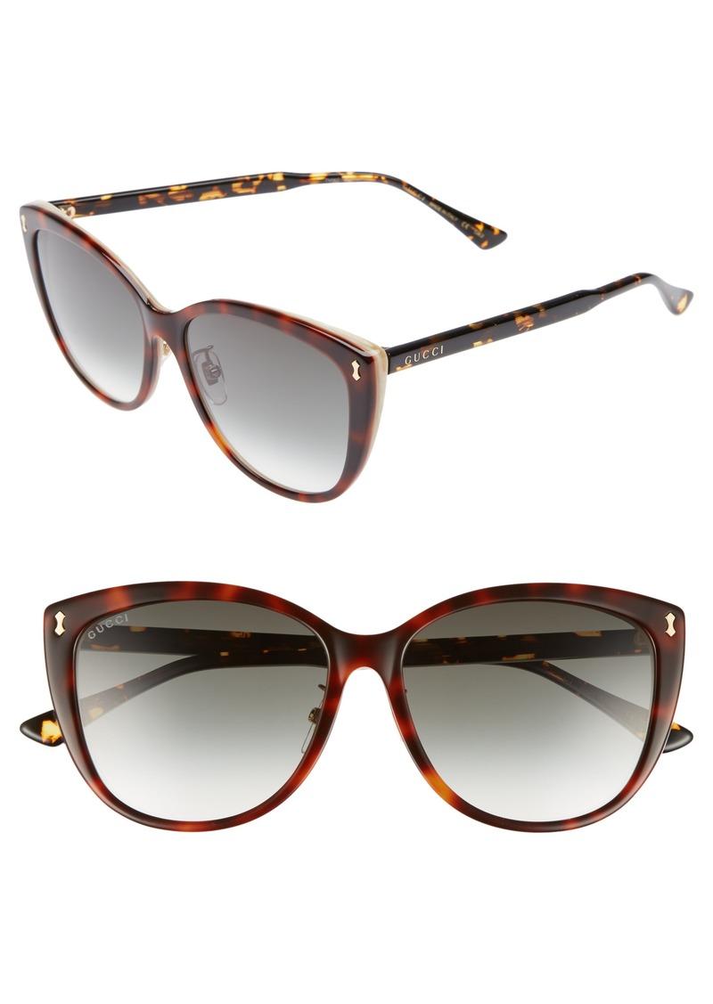 bfbcf716875c6 Gucci Gucci 58mm Cat Eye Sunglasses