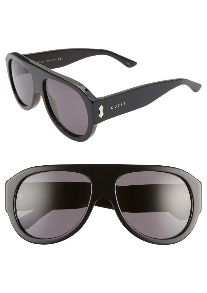 Gucci 58mm Flat Top Sunglasses