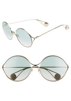 Gucci 58mm Gradient Lens Round Sunglasses