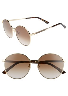 Gucci 58mm Round Sunglasses