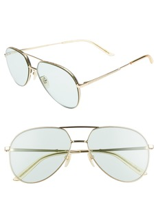 Gucci 59mm Metal Aviator Sunglasses
