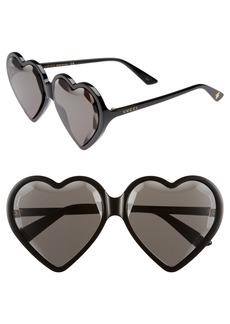 Gucci 60mm Heart Sunglasses