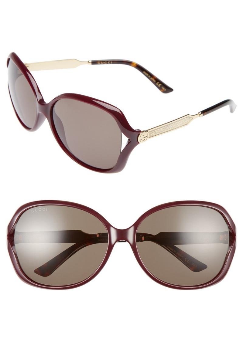 26298ff65904f Gucci Gucci 60mm Open Temple Oval Sunglasses