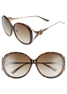 Gucci 60mm Round Sunglasses