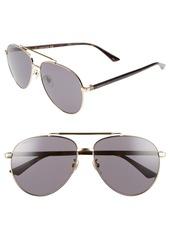 Gucci 61mm Aviator Sunglasses