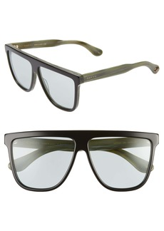 Gucci 61mm Flat Top Sunglasses