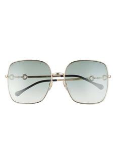 Gucci 61mm Gradient Square Sunglasses