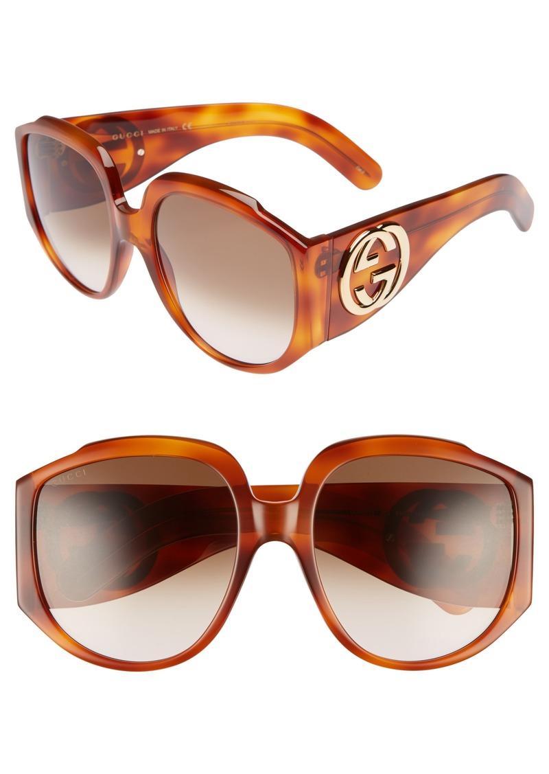 c934eb2c552d4e Gucci Gucci 61mm Gradient Square Sunglasses
