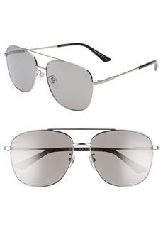 Gucci 61mm Navigator Sunglasses