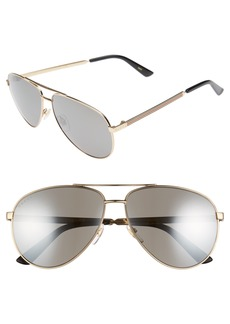 Gucci 61mm Polarized Aviator Sunglasses