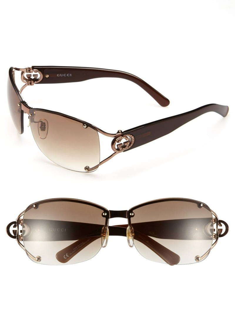 Gucci 62mm Open Temple Special Fit Rimless Sunglasses
