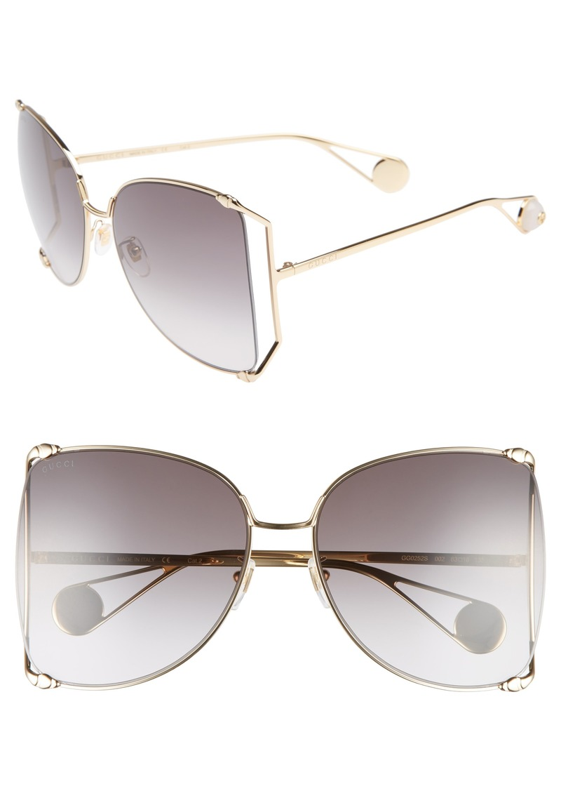 ef2ac5fb2954 Gucci Gucci 63mm Gradient Oversize Butterfly Sunglasses   Sunglasses
