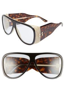 Gucci 63mm Oversize Aviator Sunglasses