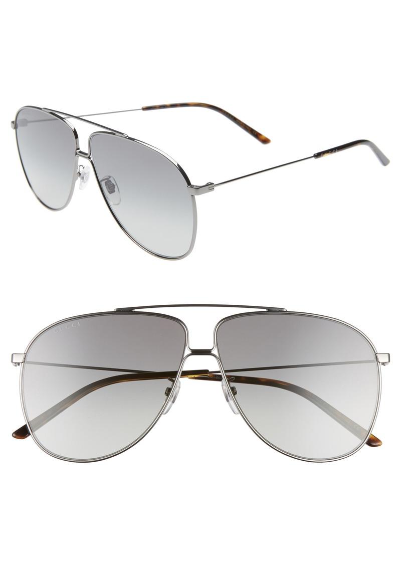 Gucci 63mm Oversize Gradient Aviator Sunglasses