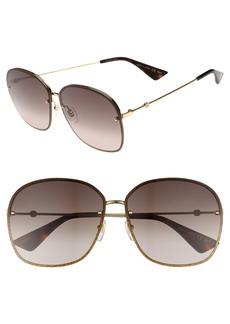 Gucci 63mm Oversize Square Sunglasses