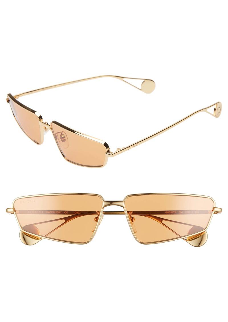Gucci 63mm Rectangular Sunglasses