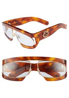 Gucci 63mm Shield Glasses