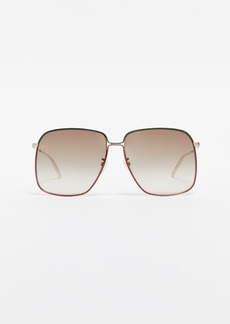 Gucci 80's Inspired Oversized Sunglasses