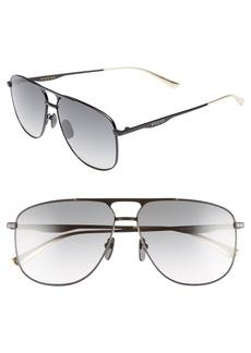 Gucci 80s Monocolor 60mm Aviator Sunglasses