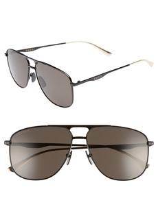 Gucci 80s Monocolor 60mm Polarized Aviator Sunglasses