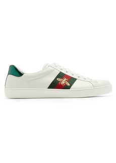 Gucci Ace bee-embroidered leather trainers
