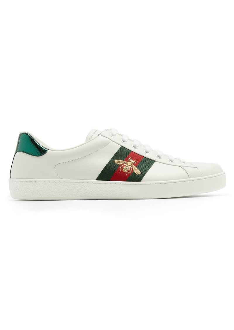 f476be090b2 Gucci Gucci Ace bee-embroidered leather trainers