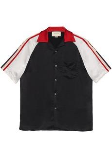 Acetate bowling shirt with Gucci stripe
