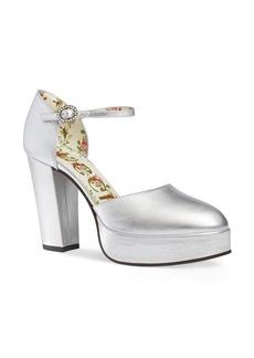Gucci Agon Ankle Strap Platform Pump (Women)