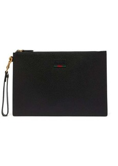 Gucci Agore grained-leather pouch