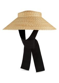 Gucci Alina Treccia Straw Hat with Grosgrain Tie