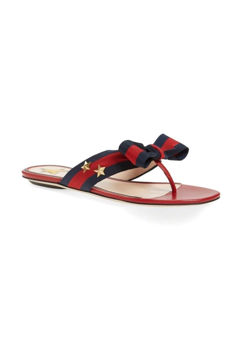 c5d2f4ad5 Gucci Gucci 'Aline' Bow Thong Sandal (Women) | Shoes