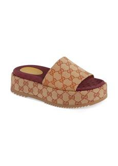 Gucci Angelina GG Supreme Platform Slide Sandal (Women)